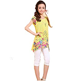 LSWA T3177 Tops Shirt Tunika Pullover Bluse shirt Sweater Sweatshirt/asymmetrisch