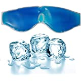 Kesariyaji Aqua Cooling Gel Relaxing Eye Mask for Dark Circles, Dry Eyes, Cooling Eyes, Pain Relief, Redness, Eye Patches, Sleeping Cool Pad Suitable for All Family Members – Blue, large
