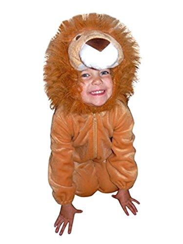 Löwen-Kostüm, F57 Gr. 104-110, für Kinder, Löwe Tier-Kostüme für Fasching Karneval Fasnacht, Kleinkinder-Karnevalskostüme, Kinder-Faschingskostüme, Geburtstags-Geschenk - Warm Wetter Kostüm Baby