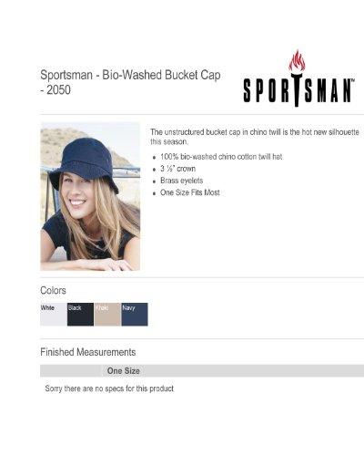 Sportsman Unisex Cotton Traditional Bucket Hat Kaki
