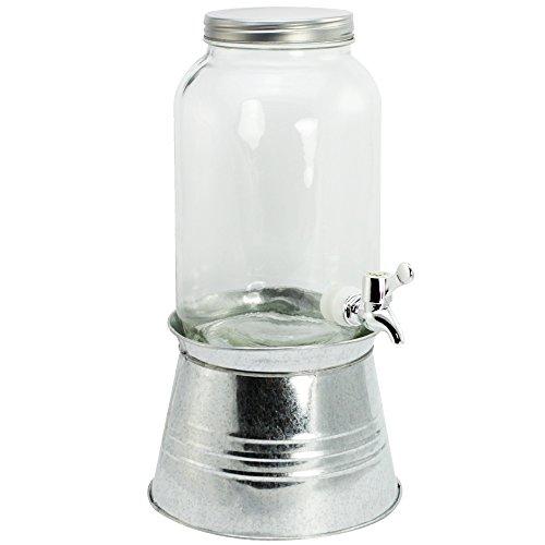 COM de Four® Dispensador de bebidas con tapa, grifo y soporte, hasta 3,6L)