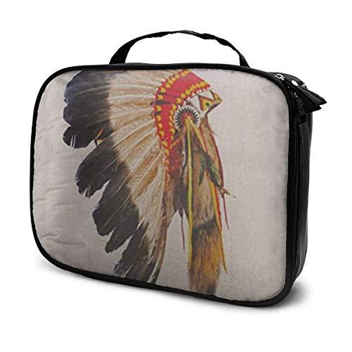 Indianer Häuptling Kopfschmuck Maskottchen Kostüm Tribal Feather
