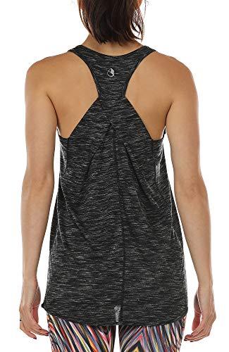 Racerback-bh Tank (icyzone Damen Yoga Fitness Tank Top Lang - Training Jogging Ärmelloses Shirt Sport Oberteil Tops (XL, Black))