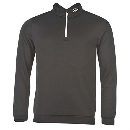 Dunlop Mens Quarter Zip Golf Pullover Long Sleeve Top Lightweight Elasticated