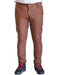 Men's Brown Slim Fit Trouser Pant