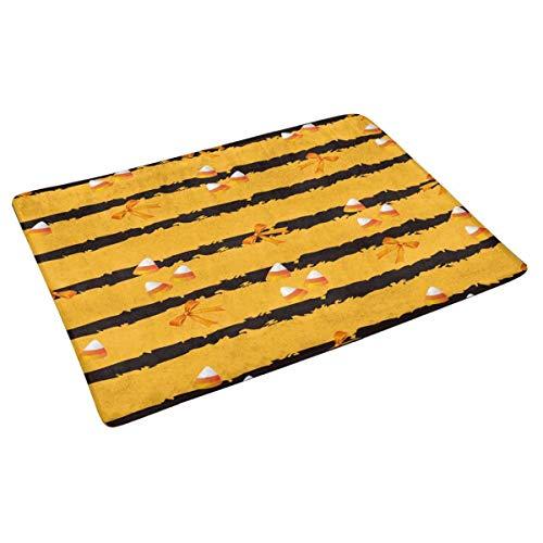 Halloween-Süßigkeit und -Band auf der orange Hintergrund-Inneneingangstürmatte, rutschfeste Tür Mat Entrance Rugs Home Decor unterstützend