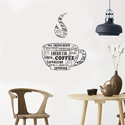 jiuyaomai Wandaufkleber Kaffeetasse Form Wandaufkleber 57x72cm