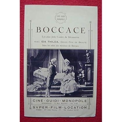 Marseille, Ciné Guidi Monopole, sans date (circa 1920) – Plié, 16,5 cm x 25 cm, 4 pages - Dossier de presse de Boccace – Film avec Ida Thilda, etc. – 2 photos N&B - résumé du scénario en français – Bon état.