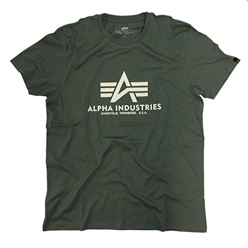 Alpha Industries Basic Small Logo T-Shirt (vintage green, M)