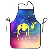 Not afraid Best Gift Desert Camel Nights Unisex Cooking Kitchen Aprons Chef Apron Bib