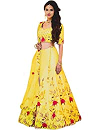 0c753e90759 Tisha Fashion Women s Embroidered Semi Stitched Lehenga Choli