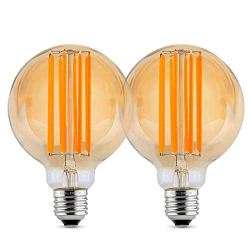 Preisvergleich Produktbild Albrillo dimmbar E27 LED Globe ersetzt 60W, Filament Glühbirne Retro Edison Vintage, warmweiß,  80mm
