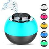 Macrourt Mini Altavoz Bluetooth,Caja de Música Chulo Altavoz Redondo inalámbrico con Botón Táctil, Lámpara de Noche para niños,Micrófono Incorporado Soporte Tarjeta Micro SD para Teléfonos Ordenador