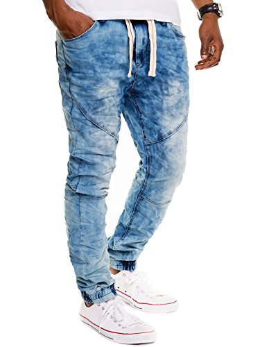 Sublevel -  Pantaloni  - cavallo basso - Basic - Uomo Blu (Dark Blue Denim) W32/L32