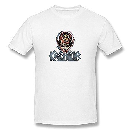 Men's Kreator Heavy Metal Logo T Shirt White