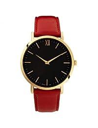 Relojes Hermosos, Hombre / Mujer / Pareja / Unisex Reloj Deportivo / Reloj de Moda / Reloj de Pulsera Cuarzo Colorido Piel Banda Cosecha / Cool / Casual ( Color : Rojo , Talla : Para Mujer-Una Talla )