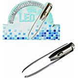 Stainless Steel Tweezers with LED Light - Womans Perfect Ideal Christmas Present / Gift / Stocking Filler Ideal Gift for The Gardener