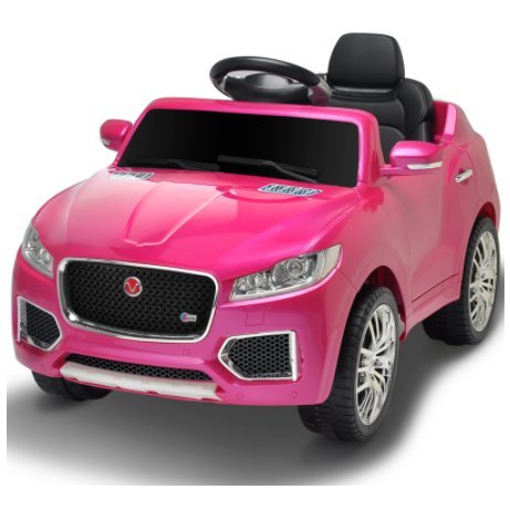 Children�s Ride On Car Jeep 12V Toy Jaguar Style With Sound Opening Doors Flashing Lights and New Function With Microphone (PURPLE)