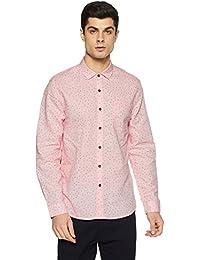 Lee Men's Printed Slim Fit Casual Shirt - B078HVQH4K