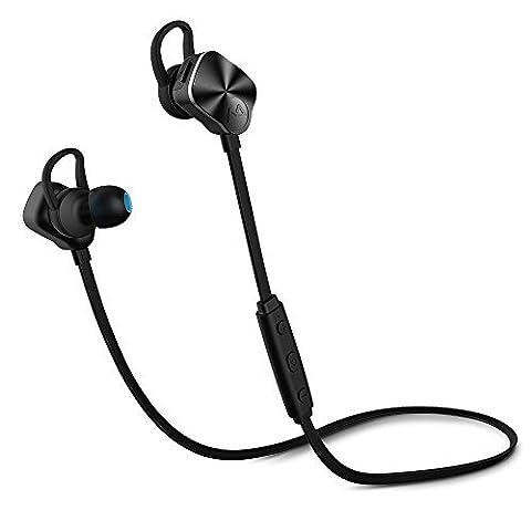 Écouteur sans fil Oreillette Bluetooth /Écouteurs Bluetooth Mpow Casque Sans fil Sport, Écouteurs Intra-Auriculaires stéréo Bluetooth 4.1, Écouteur sans fil Oreillettes résistant à la transpiration avec cancellation du bruit, Multifonctions pour iPhone 7, 6S, 6 Plus, etc. 【Nouvelle
