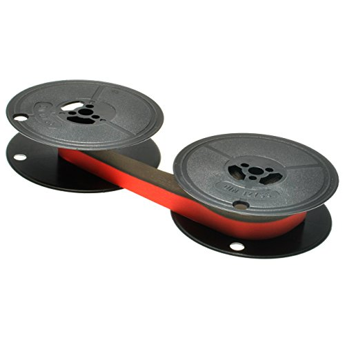 Preisvergleich Produktbild Farbband für Olympia Texstar Gruppe 1 schwarz/rot - BK/RED, 13mm/10m Doppelspule, kompatibel zu 67114