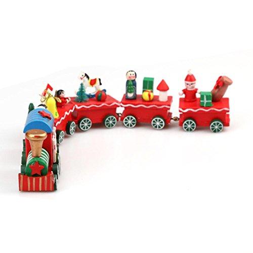 Sunnywill 1 Stk Holz Weihnachten Weihnachtsgeschenk Zug Dekoration Dekor für (Nägel Fee Kostüm)