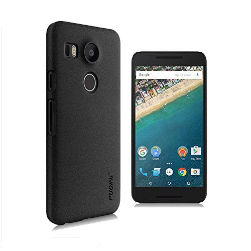 Tarkan Pudini QuickSand Matte Slim Hard PC Back Case Cover For New LG Google Nexus 5X 2015 (Sandstone Black)