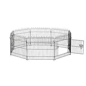 Pawhut d06 029 recinto recinzione box recinto cani otto for Recinto per cani amazon