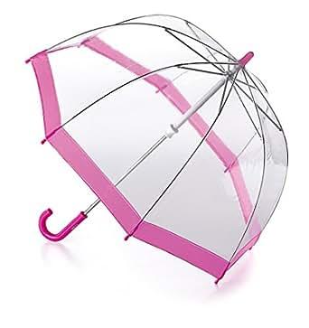 Fulton - Parapluie Enfant Transparent Forme Dôme Rose