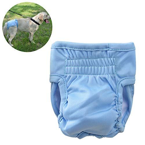 Tie langxian Windeln für Haustier Hunde Frauen,Windeln für Hunde,Hundewindeln,Anti-Belästigung-physiologische Hosen des Haustier-Hundes (M, Blau)