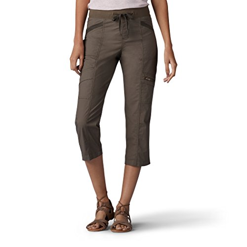 Lee Women's Relaxed Fit Margeaux Knit Waist Cargo Capri Pants