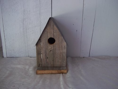 Amish Country Collectible A-frame Barnwood Birdhouse. Old Barn Wood and Tin Provides a Heavenly Home for Your Feathered Friends, While Enhancing Your Country Garden Decor. This Country Birdhouse Makes a Unique Gift Idea for a Bird Lover. by KENZIE'S STARS AND GIFTS Kenzie Woods