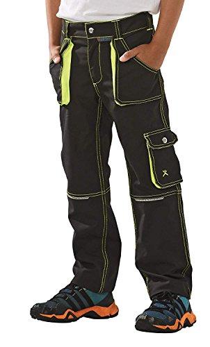 6110 Planam Basalt Junior Bundhose in verschiedenen Farben, Arbeitshose für Kinder (134/140, anthrazit-gelb)