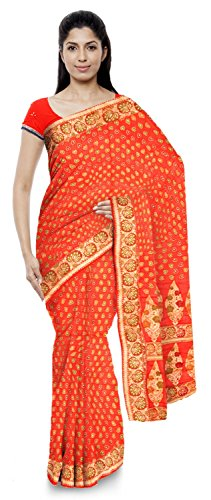Neelam Sarees Women's Pure Banarasi Silk Saree (Red )