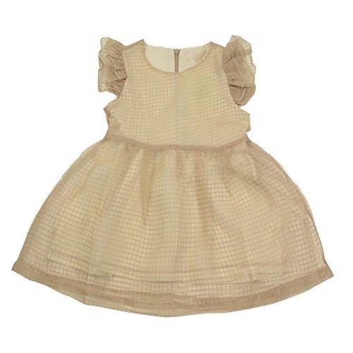 Guancheng Ragazze Bambini principessa Dress Tulle Gonne per bambini Abbigliamento per bambini Sundress Size 4-11 anni (130, cachi)