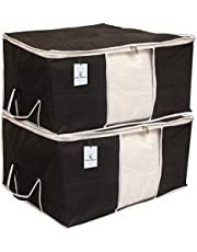 Kuber Industries 2 Piece Non Woven Underbed Storage Bag Set