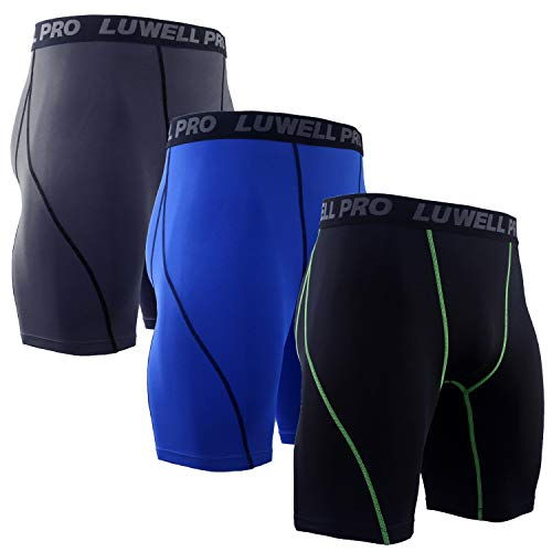 LUWELL PRO 3 Piezas Mallas Hombre Secado Rápido Pantalon