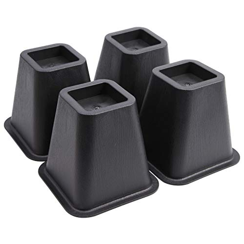 SurePromise Betterhöhungen, strapazierfähig, 15,2 cm, Elefantenfüße zur Erhöhung von Tischstühlen und Aufzügen, 4 Stück, Schwarz