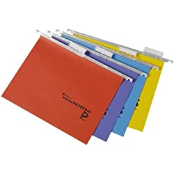 Rexel Multifile Plus Dossier suspendu A4 15 mm assortis, pack de 20