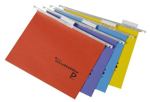 Rexel Multifile Plus Dossier suspendu A4 15 mm assortis, pack de 20