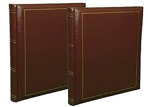Lot de 2 albums photos Classic brun à pochettes pour 400 photos 10x15 cm