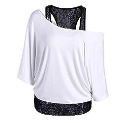 Women's Tops , Xinantime Women Plus Size Lace Loose Casual Long Sleeve Tops Shirt