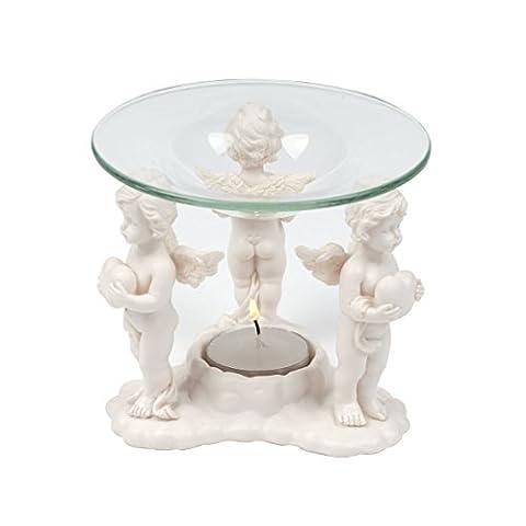Pajoma 73693 Duftlampe Herz-Engel H 105 cm (Herz Glas Teelicht)