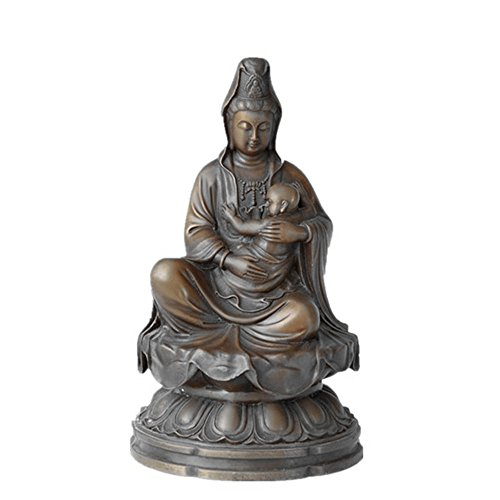 Happy Outdoor Statue Buddha (Toperkin Buddha Statue Buddhist Outdoor Decor Guanyin Figure Bronze Skulpturen Statuen TPFX-B143)