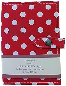 Schmuckschatulle für Ohrringe in Buch Form - Little Book of Earrings - Hält 48 Paar Ohrringe auf 4 Seiten - Farbe...