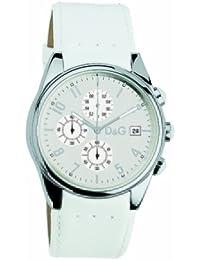 Dolce & Gabbana Dolce&Gabbana - Reloj analógico de cuarzo para hombre con correa de piel, color blanco