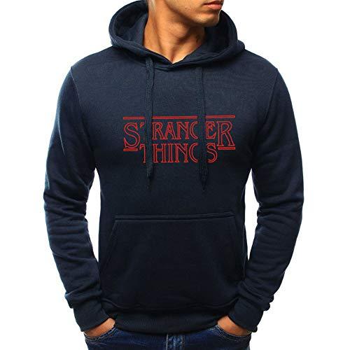 Unisex Kapuzenpullover Trendy Gesichter Saison -Stranger Things Print -Kapuzen Sweatshirts Langarm Hip Hop Baumwolle Pullover