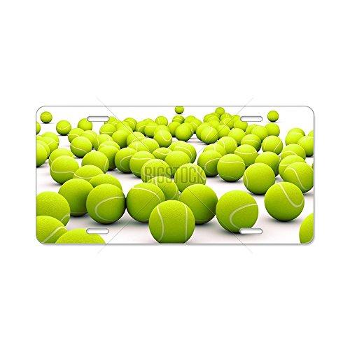 CafePress–Tennisbälle Aluminium Nummernschild–Aluminium Nummernschild, vorne Nummernschild, Vanity Tag