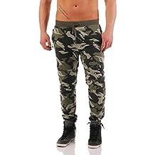 Hombre Pantalón De Jogging Y Entrenamiento Pantalones deportivos Aptitud en el Camuflaje Diseño Sudadera Pantalones informales Jogger Ropa deportiva B-053 L