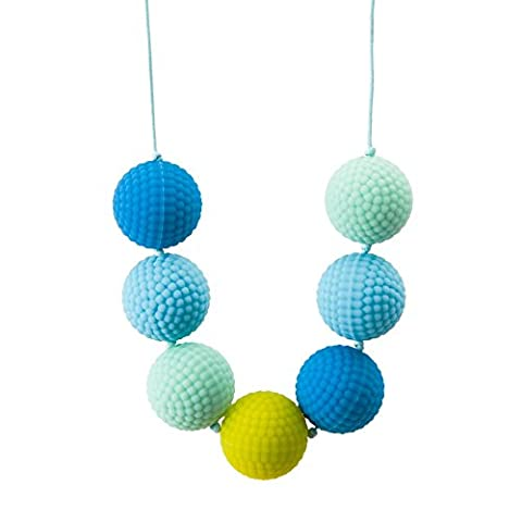Chewigem Berries Necklace-Sensory Chew-Chewlery Toy For Autism & ADHD-Blue/Turq/Grn